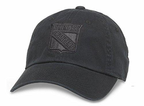 American Needle New York Rangers NHL Blue Line Tonal Verstellbar Dad Gap, Unisex, Schwarz, Einheitsgröße -