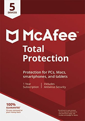 McAfee 2018 Total Protection | 5 Devices | PC/Mac/Android | Download