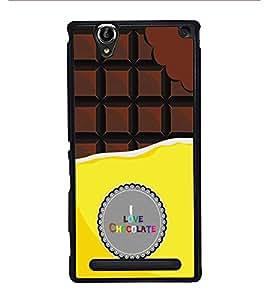 HiFi High Glossy Designer Phone Back Case Cover Sony Xperia T2 Ultra :: Sony Xperia T2 Ultra Dual SIM D5322 :: Sony Xperia T2 Ultra XM50h ( I Love Chocolate )