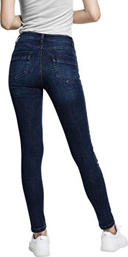 Urban Classics Damen Jeans Ladies Skinny Denim Pants Blau (Darkblue 800)