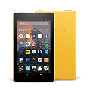 Fire 7 Tablet, 8 GB, Yellow—with Special Offers (Previous Generation - 7th)