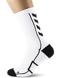 Hummel Chaussettes de sport unisexe courte avec rembourrage div. couleurs–Reflector Tech Indoor Low–Mesh chaussettes antibactérien pour le sport et fitness–Ventilation