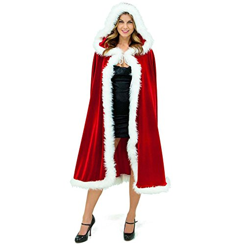 ROBO Weihnachten Umhang Rotkäppchen Küstüm mit Kapuzen Cosplay Rot Umschlagtuch Prinz Prinzessin Rollenspiel
