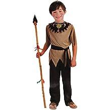 3 tlg. Kostüm Indianer 4 bis 9 Jahre - Gr. 110 - 140 Kostüm Karneval Kinder Kind Kinderkostüm Fasching