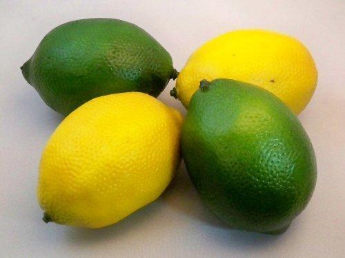 2 beste künstliche Zitronen & 2 beste künstliche Limetten dekorative Frucht durch bestes künstliches (Künstliche Limetten Und Zitronen)