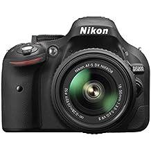 Nikon D5200 Appareil photo numérique Réflex 24,2 Mpix Kit Boîtier + Objectif 18-55 Mm DX VR II Noir (Reconditionné)