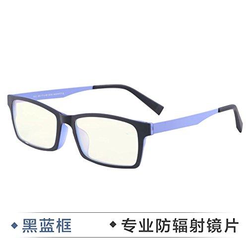 KOMNY Strahlung Nachweis Brillen Herrenmode Business Anti Blaue Brille Handy Computer Schutzbrille Nicht Grad der Flache Spiegel, Black Box Strahlung
