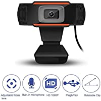 TECHNOVIEW Web Camera HD 5P Lens with Microphone, Webcam 1080P, Web Cameras for Computers, Laptop, Desktop PC USB Webcam for Laptop Streaming, Video Chatting, Video Calling, Conferencing Recording