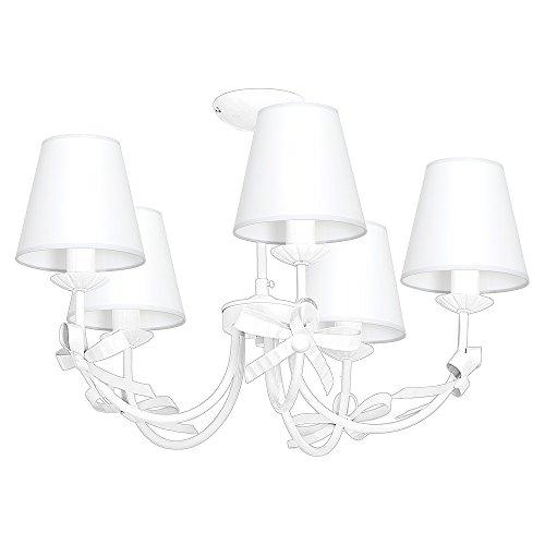 KOKARDKA V Weiß Kinderzimmerleuchte Kinderzimmerlampe Hängelampe Deckenleuchte Deckenlampe Kronleuchter