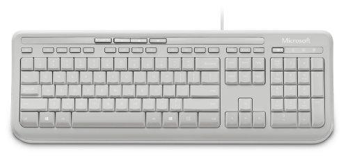 Microsoft Wired Keyboard 600 (Tastatur kabelgebunden, weiss, deutsches QWERTZ Tastaturlayout) - 5