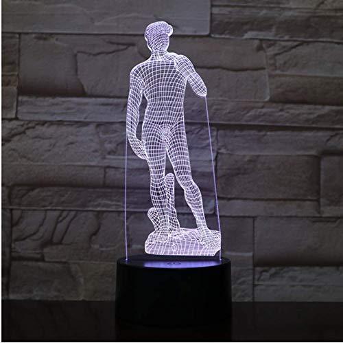 Michelangelo David Led Nachtlicht Skulptur Figur Touch Sensor Rgb Dekorative Lampe Kind Kid David Skulptur Schreibtischlampe Nachttisch