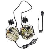 Auriculares tácticos Recogida de sonido Orejeras de seguridad para la versión de casco Auriculares de reducción de ruido con adaptador de riel para protección auditiva Auriculares de radio-HACER