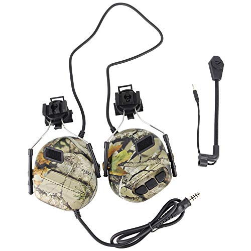 Tactical Headset Sound Pickup Sicherheit Gehörschutz für Helmversion Noise Reduction Headphone mit Rail Adapter für Gehörschutz Radio Earphones-DO -