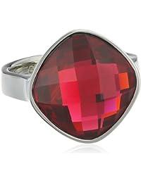 Esprit - ESRG11570A - Impressive Pink - Bague Femme - Acier inoxydable 6.42 gr - Verre - Rose