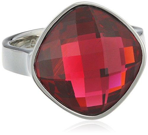 Esprit Damen-Ring Impressive Edelstahl Glas rosa - ESRG11570A180
