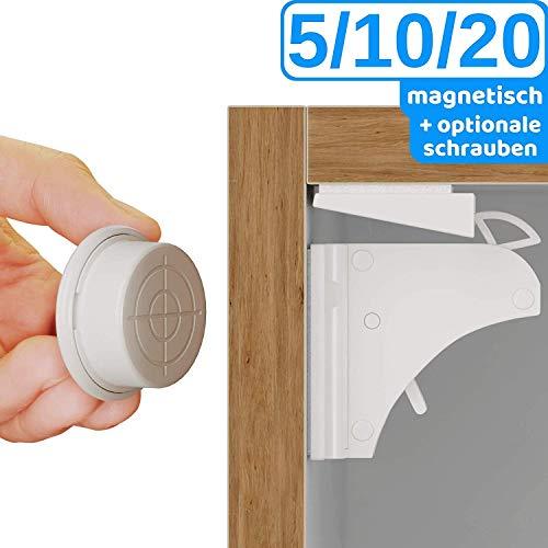 Premium magnetische Schubladen- /Schranksicherung Kindersicherung von BEARTOP | bombenfester Halt | TÜV Rheinland | Installationshilfe und Schrauben für besseren Halt | 100% ZUFRIEDENHEITSGARANTIE