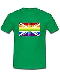 Spreadshirt Rainbow Flag Union Jack Men's T-Shirt