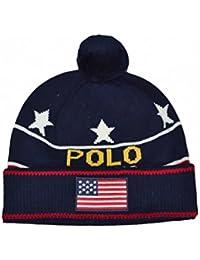 9fe853c5d11 Ralph Lauren Bonnet USA Bleu Marine pour Homme