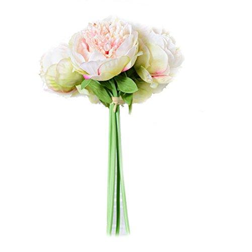 ZTTLOL Heißer Verkauf Künstliche Gefälschte Pfingstrose Seidenblumen Brautstrauß Blumenschmuck Home Hochzeit Festival Tisch Garten Decor, Champagne