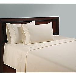 1000 hilos de algodón egipcio 1000TC juego para cama de, Full/doble, marfil de (Con bolsillo)