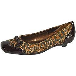 Via Uno Pumps Leder chestnut leopard, Groesse:37.0