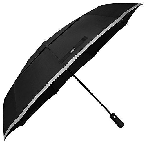 G4Free 48 Inch Großer Kompakter Regenschirm Automatischer Reise-Tascheschirm Verstärkter Doppelter Baldachin Winddichter Rahmen Dupont Teflon Schnelles Trocknen 210T Gewebe Starkes einfaches Tragen
