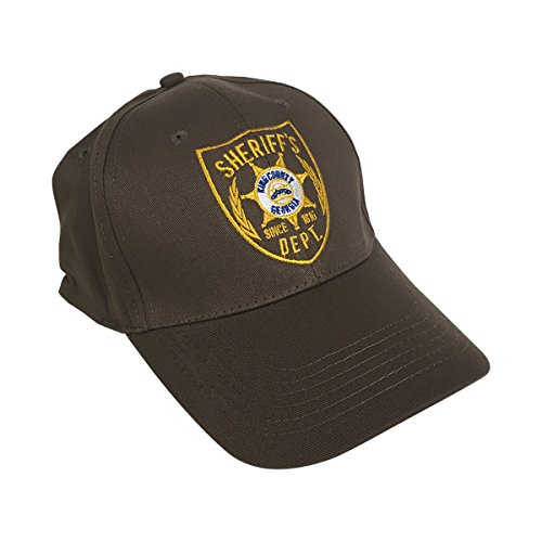 Sheriff Grimes Hat the Dead Rick Kostüm Shane Walsh Baseball Cap Brown Kriech (Cap Kostüme)