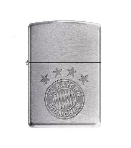 FCB Original Zippo Feuerzeug SILBER/chrom FC Bayern München
