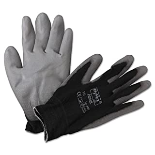 AnsellPro HyFlex Lite Gloves, Gray/Black, Size 10 - Includes 12 pairs. by Ansellpro