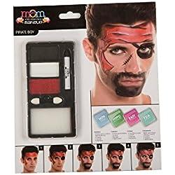 Kit de maquillaje de pirata para hombre.