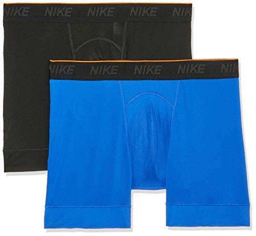 Nike Herren Trainings Boxershorts, 2er Pack, schwarz (Black/Game Royal/(White)), S