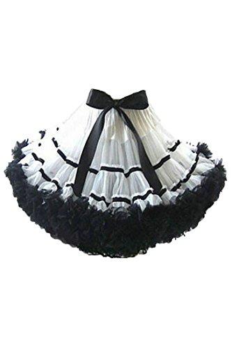 Mini-Petticoat Tutu WEISS/SCHWARZ Fasching Karneval S/M Kostüm Rock Verkleidung