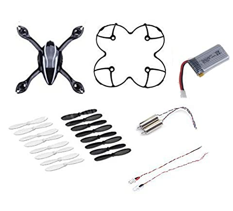 Yacool® l'Hubsan X4 H107l FPV Quadcopter Spare Parts Accident Pack (One Body Cover Shell/Une protection/4 Spare Blades Set/une 380mah batterie de rechange/2 Led/2 Motors)