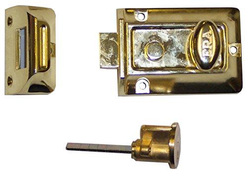 Era Verrou de porte traditionnelle 60 mm – Laiton – Cylindre – Laiton – Corps