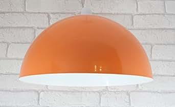 14 orange metal cylinder dome light shade lamp shade ceiling light indoor lighting ceiling lighting pendant lights aloadofball Gallery