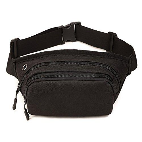Imagen de louvra riñonera  de cintura bandolera cinturón táctical molle militar para camping, trekking, senderismo, etc, color negro
