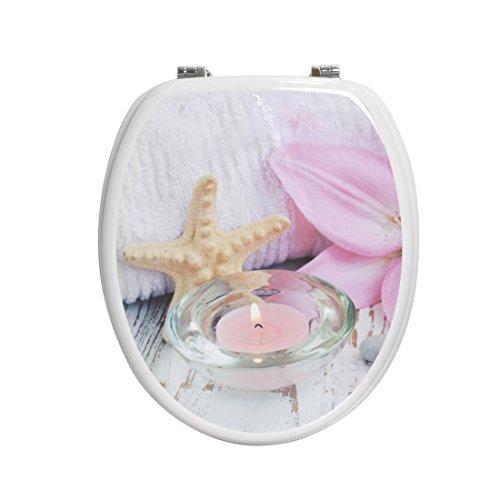 Carpemodo WC Deckel Holz, Weiß Rosa Harmony