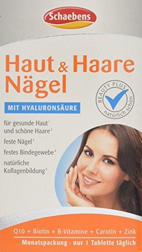 Schaebens Haut und Haare Nägel Tabletten, 1er Pack (1 x 30 Stück) (30 1 Täglich Tabletten)