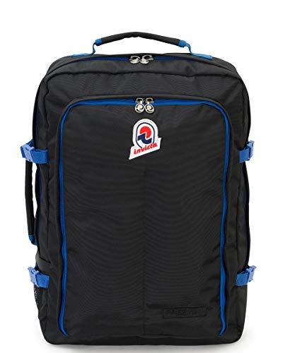 Zaino INVICTA - FREEWAY - Nero - 43 LT - viaggio bagaglio a mano - 35 x 50 x 17 CM