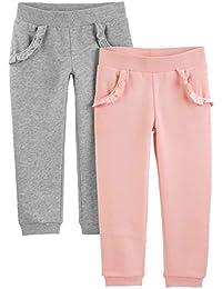 Simple Joys by Carter's 2-Pack Pull on Fleece Pants Niñas