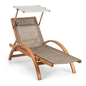 Blumfeldt panamera gartenliege liegestuhl - Gartenliege ergonomisch ...