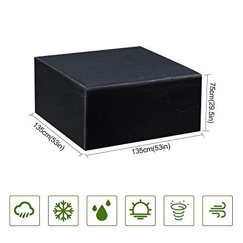 Guansky Copertura Tavolo da Giardino Copertura Mobilia impermeabile Anti UV 210D Esterno Oxford Per Tavolo Sedie Divani e altri Mobili