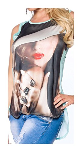 Retro-Shirt von luxury & good Dessous L/XL (Eleganz Langarm-shirt Zeigen)