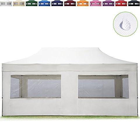 PROFIZELT24 Faltpavillon Faltzelt Klappzelt Partyzelt Falt-Pavillon mit 4 Seitenteilen, ALU
