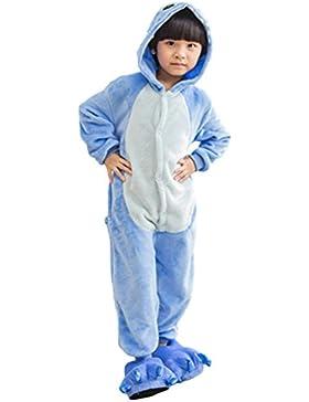 MissFox Kigurumi Pijamas Unisexo Niños Traje Disfraz Niños Animal Pyjamas Stitch