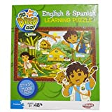Playskool Go Diego Go! 2 Foot By 3 Foot Floor Puzzle - English & Spanish Learning 48 Piece Puzzle