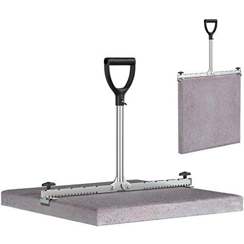 LANGFIT® Plattenheber mit extra langem Griff - 30-62cm - Schonend für Rücken und Hüfte! Tragkraft bis 60kg - Made in Germany - MS-PH2062L