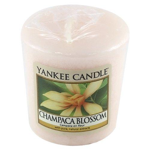 Yankee Candle Samplers Candele Votive Champaca Blossom, Cera, Rosa, 4.4 x 4.5 x 5.3 cm