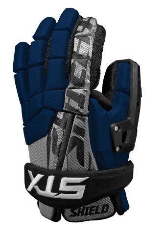 STX Lacrosse Shield Torwart Handschuh, Marineblau, 12Zoll von STX Lacrosse