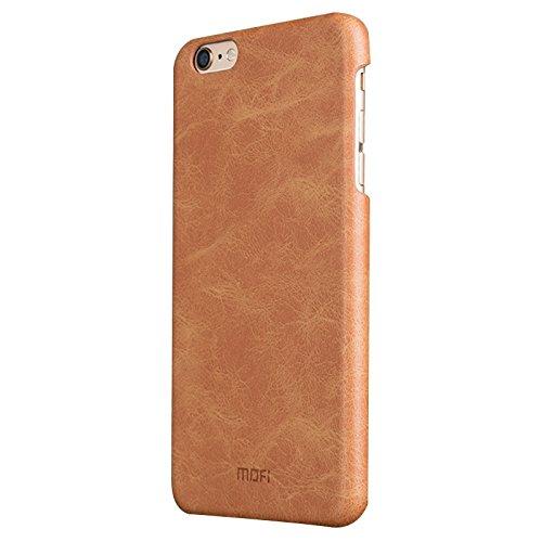 Phone case & Hülle Für IPhone 6 / 6s, Crazy Pferd Texture Leder Oberfläche PC Schutzhülle Rückseite ( Color : White ) Brown